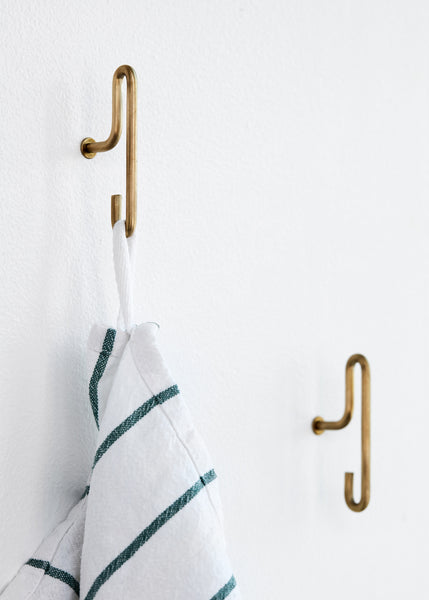 ON SALE // Pair of Small Brass Hooks by Moebe - Forest London