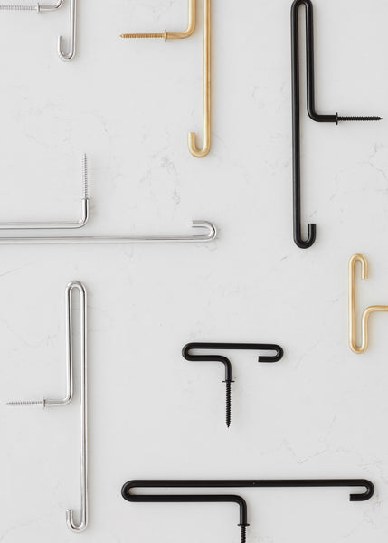 ON SALE // Pair of Small Black Hooks by Moebe - Forest London
