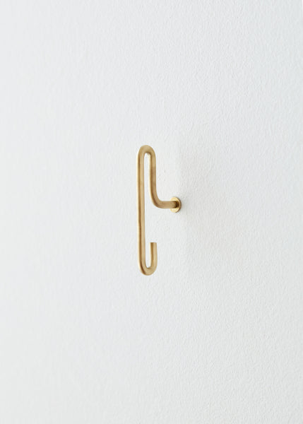 Pair of Small Brass Hooks by Moebe