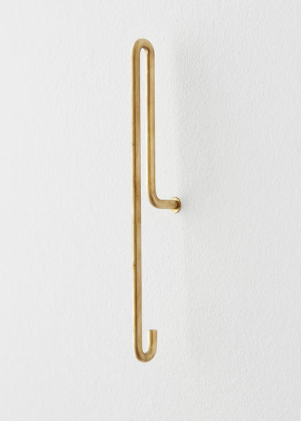 Large Brass Hook by Moebe