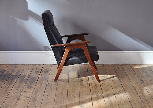 Black Skai Armchair