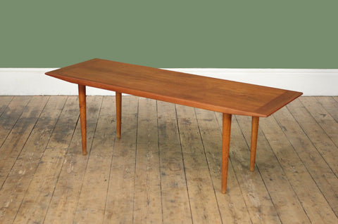 Teak Danish Coffee Table - Forest London