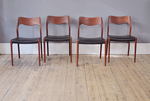 Set of Four Niels Møller Dining Chairs