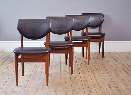 Set of four Teak Dining Chairs - Forest London
