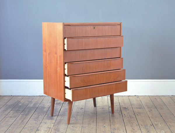 Light Teak Chest Of Drawers