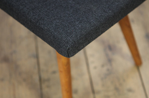 Grey Wool Footstool