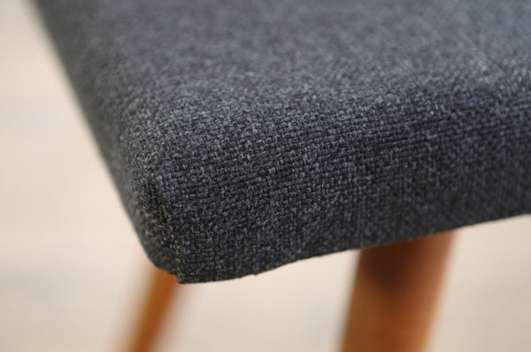 Grey Wool Footstool - Forest London