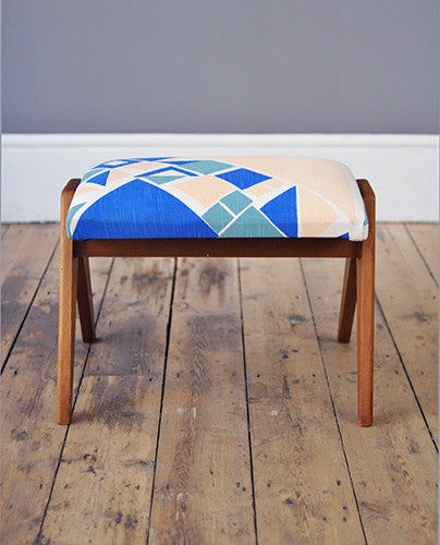 TG x F Facet Footstool - Forest London