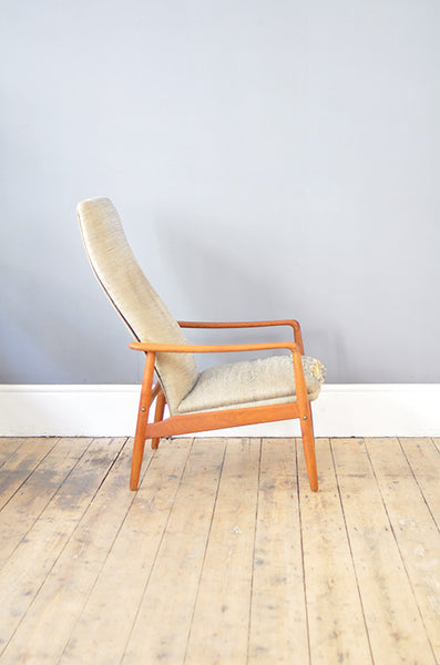 High Back Armchair by Swedish Designer Alf Svensson, for Dux