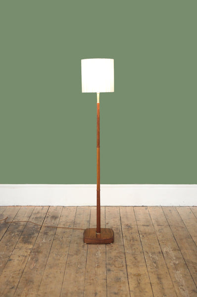 Danish Floor Lamp with Rosewood Base
