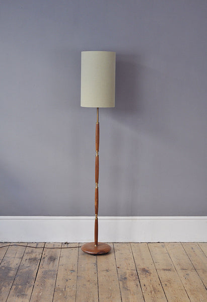Teak and Brass floor Lamp - Forest London