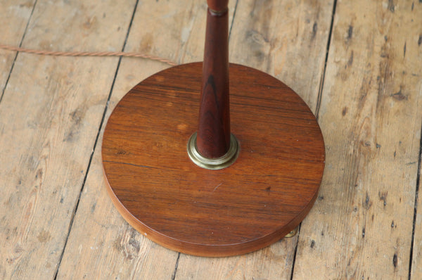 Danish Rosewood Lozenge Floor Lamp