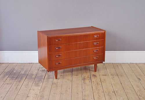 Wide Danish Chest Of Drawers