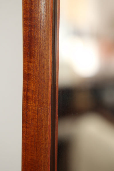 Slim Rectangular Teak Mirror
