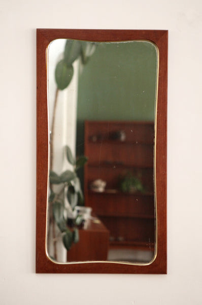 ON HOLD // Curved Teak Mirror