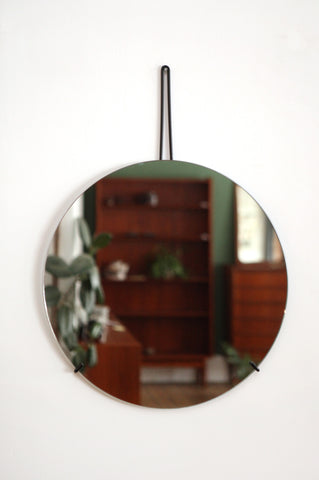 Contemporary Round Wall Mirror - Forest London