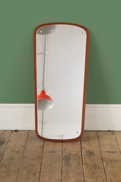 Rounded Danish Teak Mirror - Forest London