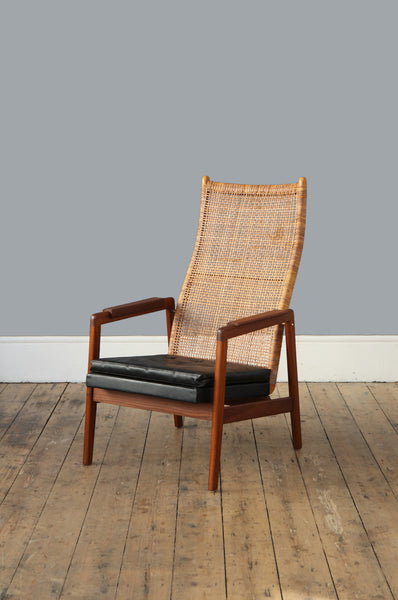 High Back Rattan Armchair by P.J. Muntendam