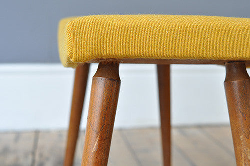 Elegantly Curved Dutch Footstool