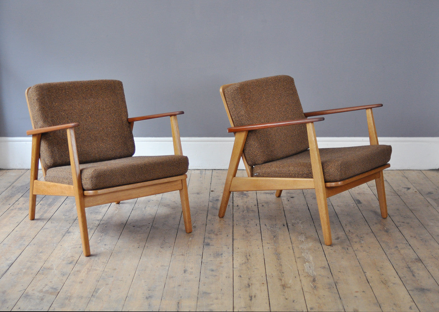 Beau Set Of Two Armchairs