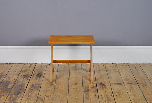 Set Of Two Beech Side Table