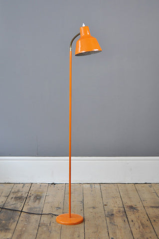 Quirky Orange Metal Floor Lamp - Forest London