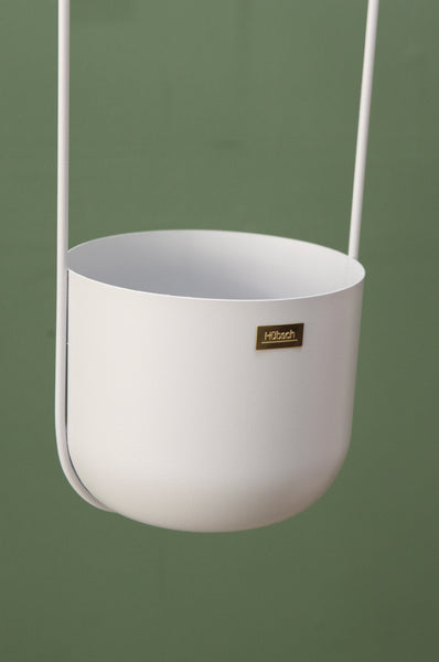 Hanging Planter in Grey with 2 arms by Hübsch - Forest London