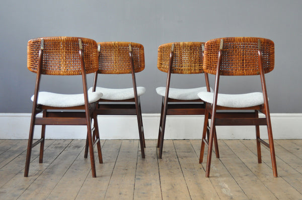 Set of Four Dutch Rattan chairs - Forest London