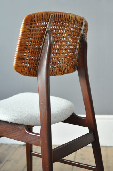Set of Four Dutch Rattan chairs