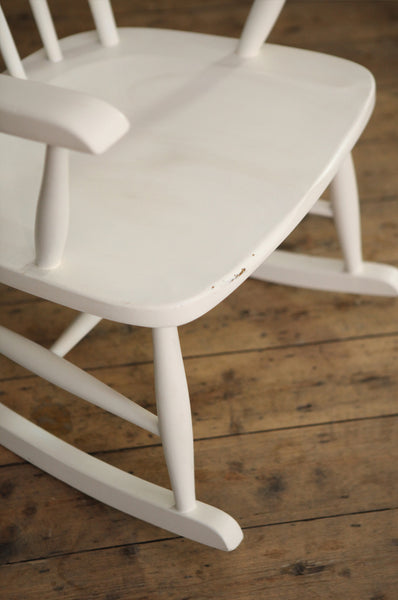 ON SALE // White Rocking Chair - Forest London