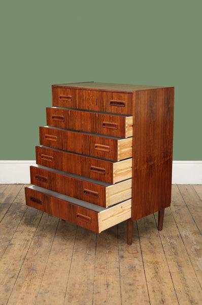 1960s Rosewood Chest of Drawers