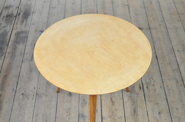 Round Beech Side Table