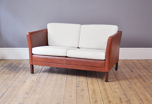Danish Two Seater Sofa - Forest London