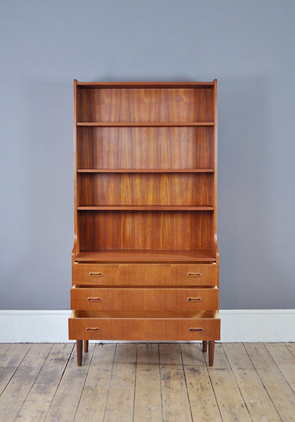 Danish Bookcase with Drawers - Forest London