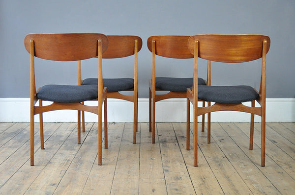 Sculptural Set of Four Dining Chairs