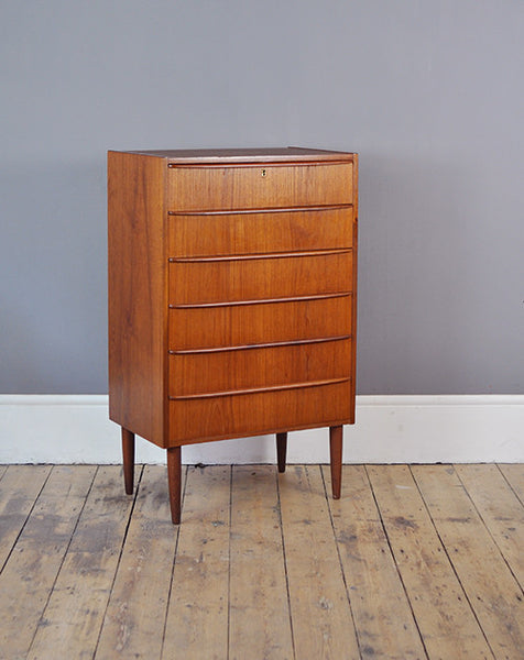 Teak Tallboy Chest Of Drawers