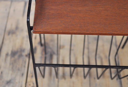 Teak & Metal Magazine rack