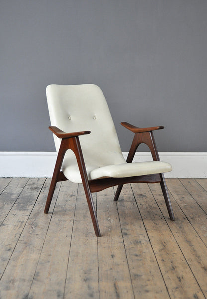 White Armchair by Louis Van Teeffelen - Forest London