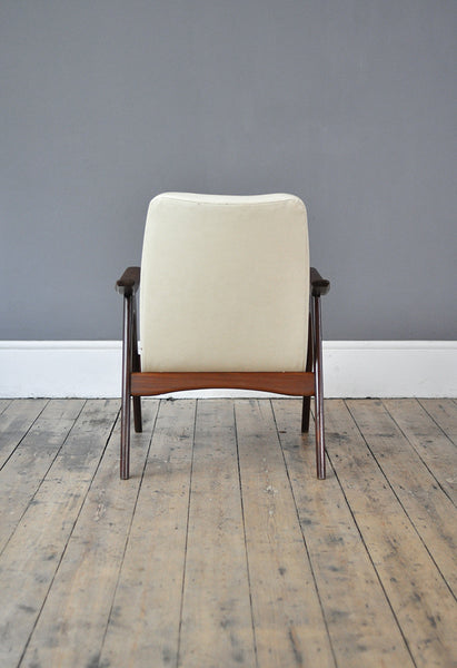 White Armchair by Louis Van Teeffelen