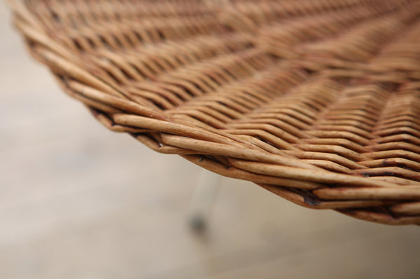 Braided Wicker Table