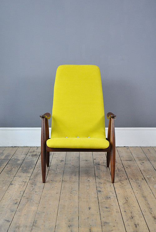 Yellow High Back Armchair Forest London