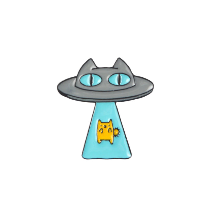 Cat Abduction Pin