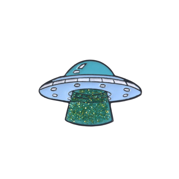 Alien Space Ship Pin