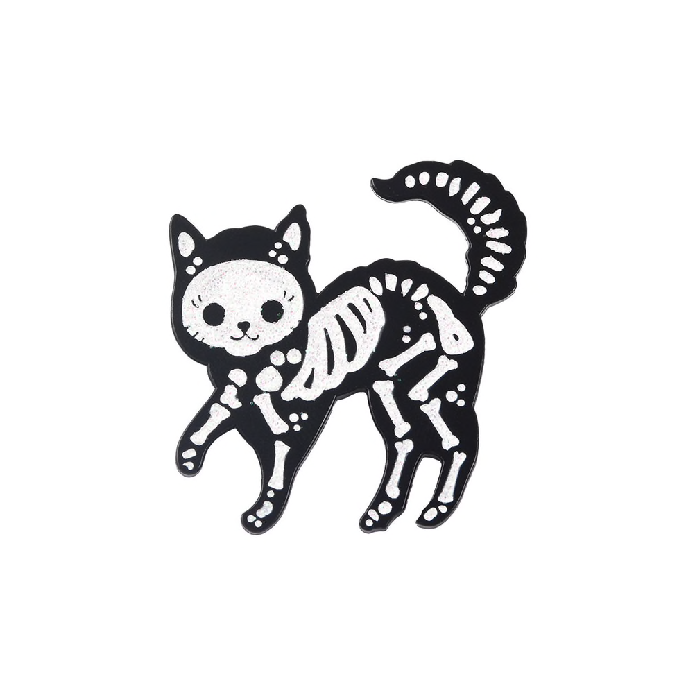 Cat Skeleton Pin