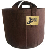 Root Pouch Brown Fabric Pot, 20 Gallon with Handle, Bundle of 10