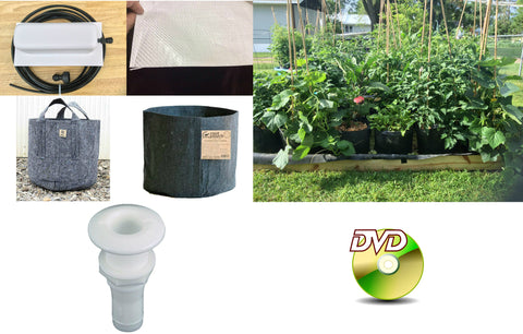 Hybrid Grow Bag Gardening System! The World's Only Plant It And Forget It Grow Bag Gardening System! The Complete Out of The Box Hybrid Grow Bag Gardening System!