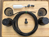 THE ULTIMATE RAIN GUTTER GROW SYSTEM STARTER KIT! 1/4 inch Fittings and Line!