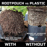 Root Pouch Non-Degradable Reusable Boxer Brown Grow Bags, One Gallon, Bundle Of 25, Best Quality