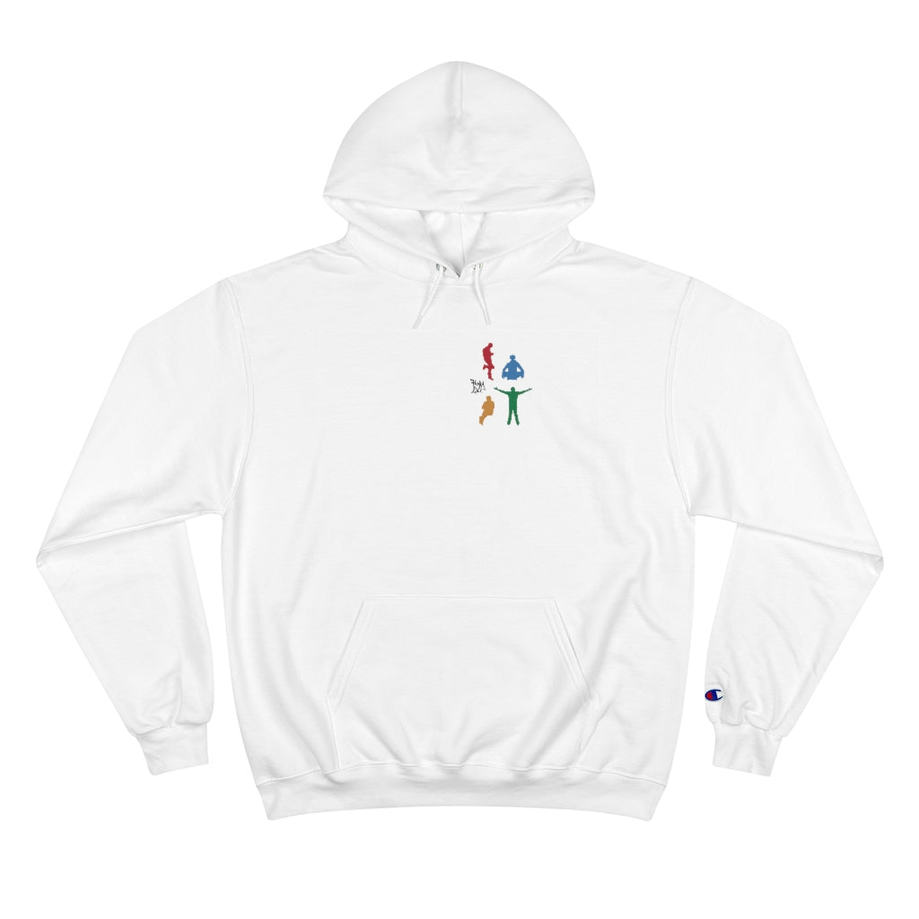 "Hoodie with Printed ""Jazz Figures"" Logo"