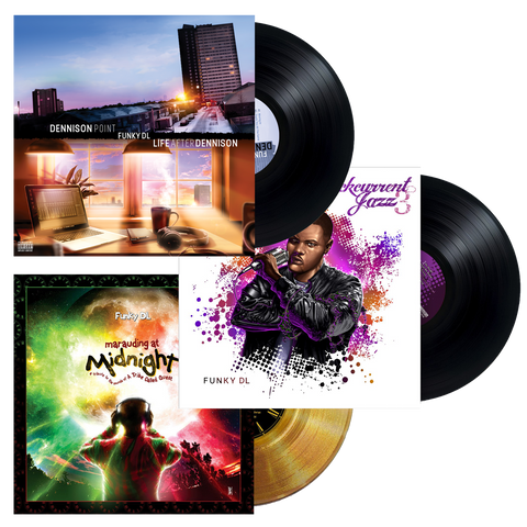 //037// - 3 Album Vinyl Bundle (GOLD) - Funky DL